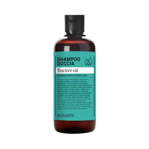 Șampon & gel de duș cu extract de arbore de ceai