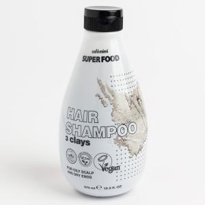 Șampon cu 3 tipuri de argilă pentru scalp gras și păr uscat