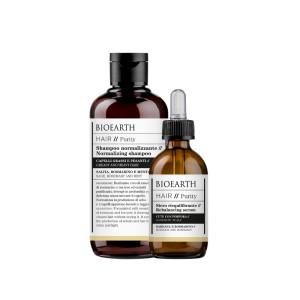 Șampon & ser pentru păr gras și scalp iritat
