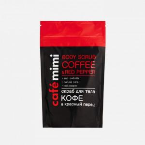 Scrub de corp cu cafea și ardei roșu