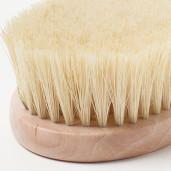 Perie de baie din lemn și fibre de cactus